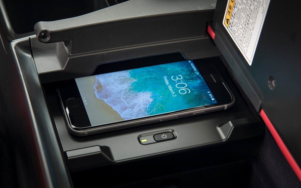 iPhone on the wireless charger in the 2021 Lexus ES